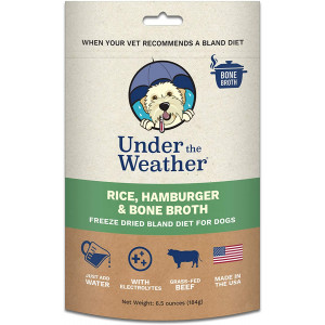Under the Weather Pets All Natural Freeze Dried Dog Food with Bone Broth for Sick Dogs and Dogs with Sensitive Stomachs; No Artificial Flavors, Gluten-Free, Electrolytes and 100% Human Grade  Meat
