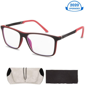 Blue Light Blocking Glasses, Filtering Blue Light Glasses with Lightweight Computer Glasses Frame, Anti Eyestrain and Protect Vision from Blue Screen, for Women, Men Computer Reading Gaming Glasses
