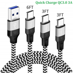 Charger Cord Charging Cable for Samsung A01 Note 10 10+ A10E A11 A21,Moto Motorola G Stylus/G Power/G Fast,Galaxy A80 A70 A40 A30 A20E S9 S8 Plus M21 M31 A20S,USB Type C Fast Charge 3FT 3FT 6FT Wire