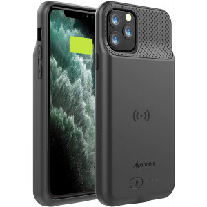 Alpatronix iPhone 11 Pro Battery Case, BX11Pro 4200mAh Slim Portable Protective Extended Charger Cover with Qi Wireless Charging Compatible with iPhone 11 Pro (5.8 inch) (Black)