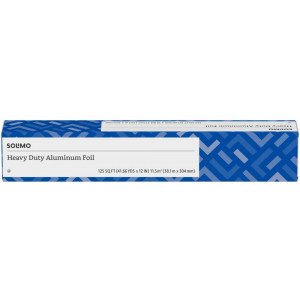 Solimo Heavy Duty Aluminum Foil, 125 Square Foot Roll (Pack of 1)