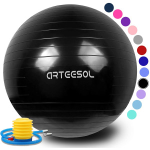 arteesol Exercise Ball, Anti-Burst Yoga Ball with Quick Pump Birthing Ball 45cm/55cm/65cm/75cm/85cm Thick Balance Ball Chair for Birthing Fitness Workout Stability Pilates, Gym and Home