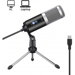 USB Microphone, Ksera Condenser Microphone for PC/Desktop/Laptop,Plug and Play with Tripod Stand Home Studio Recording Microphone for Online Chat,Streaming Twitch,Voice Overs,Podcasting for YouTube