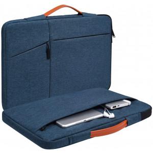 11.6-12.9 Inch Waterproof Laptop Case for Asus VivoBook 11, Dell XPS 13 9300 7390, Acer R11 Chromebook, Lenovo Yoga 11e,HP Asus Samsung Chromebook Protective Tablet Bag(Blue)