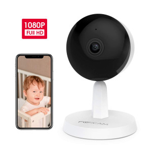 Baby Monitor,Foscam X1 1080P Wireless Smart Home Security Pet Camera with AI Human Detection, Sound Detection, One-Button Call, 2-Way Baby Monitor Audio, Free Cloud Storage Included, Works with Alexa