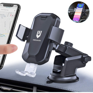 UNBREAKcable Wireless Car Charger, Auto-Clamping Car Mount,Windshield Dash Air Vent Phone Holder 10W 7.5W 5W for iPhone 11/11 Pro/Max/Xs MAX/XS/XR/X/8/8+,Samsung S20/S20+/S20 Ultra/S10/S10+/S9/S9+