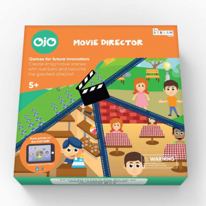 OjO Movie Director, a Math Board Game for Kids Kids Make Movies While Learning Math and Problem Solving. (Age 5 Years and up).