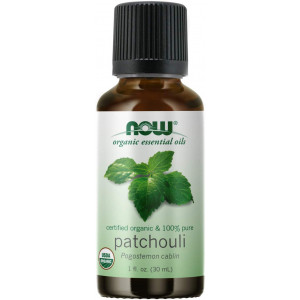 NOW Essential Oils, Organic Patchouli Oil, Earthy Aromatherapy Scent, Steam Distilled, 100% Pure, Vegan, Child Resistant Cap, 1-Ounce