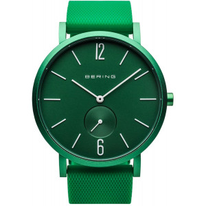 BERING Time | Unisex Slim Watch 16940-899 | 40MM Case | True Aurora Collection | Silicone Strap | Scratch-Resistant Sapphire Crystal | Minimalistic - Designed in Denmark