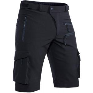 Hiauspor Men's Mountain Bike Shorts Stretch MTB Shorts Quick Dry with Zipper Pockets