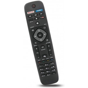 Bincolo NH500UP Remote Control Replacement for Philips TV 32PFL4902/F7, 40PFL4901/F7, 43PFL4901/F7, 50PFL5602/F7, 55PFL5602/F7, 65PFL5602/F7, 75PFL6601/F7, and More