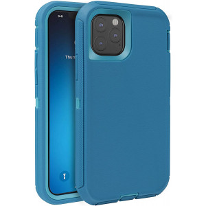 FOGEEK Case for iPhone 11 Pro Max, iPhone XI Pro Max Case, Heavy Duty Rugged Case, Full Body Protective Cover [Shockproof] Compatible for iPhone 11 Pro Max 2019 [6.5 Inch] (Tea Blue/Light Blue)