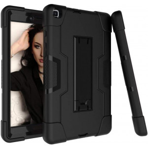 Bingcok Galaxy Tab A 8.0 Case 2019, Heavy Duty Rugged Full-Body Hybrid Shockproof Drop Protection Cover with Kickstand for Samsung Galaxy Tab A 8.0 2019 Model SM-T290 /SM- T295 (2-Black)