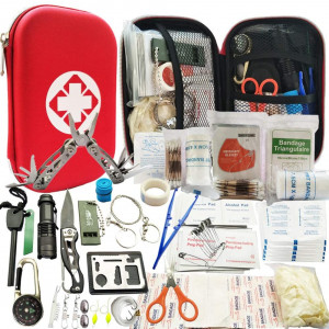 Lizipai Survival Kit/Earthquake Survival Kit/Emergency Kit, 81-in-1 Outdoor Gears Tactical (First Aid and Emergency Accessories for Camping, Hiking, Hunting, Fishing, Survival in Outdoor