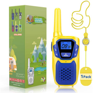 Topsung FRS Kids Walkie Talkies 1 Pack Long Range, Drop Proof GMRS 2 Way Radios Walkie-Talkies for Adults Camping Hiking, Kids Electronics Toys Gifts for Girls Boys Halloween Christmas Xmas Birthday