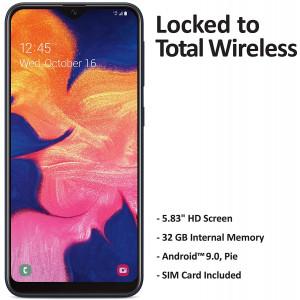 Total Wireless Samsung Galaxy A10e 4G LTE Prepaid Smartphone (Locked) - Black - 32GB - SIM Card Included - CDMA