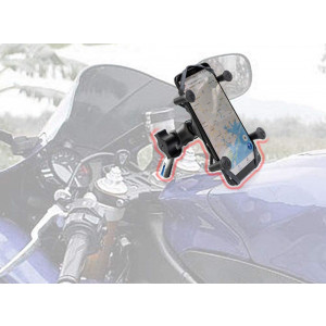 X Web Grip Mount Phone GPS Navigation Cradle Holder for Yamaha YZF-R1 R1M R1S YZF-R6 R6S
