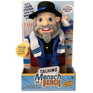 Mensch on a Bench Talking 12 Doll