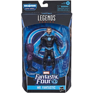 "Hasbro Marvel Legends Series Fantastic Four 6"" Collectible Action Figure Mr. Fantastic Toy, Premium Design and 2 Accessories, 1 Build-A-Figure Part"