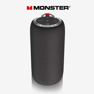 Bluetooth Speaker, Monster S310 Portable Bluetooth Speaker 5.0 with TWS Pairing Deliver Rich Bass,Dynamic Stereo Sound, Built-in Mic for Clear Call,Wireless Speaker for Home or Outdoor Use, Black
