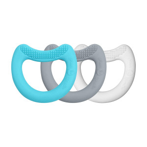 green sprouts First Teethers Made from Silicone (3pk), Aqua