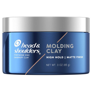 Head and Shoulders Anti-Dandruff Molding Hair Clay for Men, Strong Hold, Matte Finish, 3 Oz