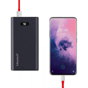 Sdoutech 20000 mAh Dash Charge/VOOC Power Bank 5V/4A 20W for Oneplus 8/7 Pro/6T/6/5T/5/3T/3 Also Support Huawei Supercharge 22.5W,Mate 30/20/10,P30/P10 PD 3.0 Fast Charge for iPhone 11 Pro Max