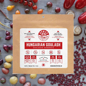 Nomad Nutrition Hungarian Goulash - Plant Based, Protein Packed, Nutritious Dehydrated Meal for Camping, Travel, Adventure on The go - 4 oz