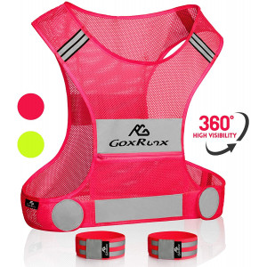 Reflective Vest Running Gear,Lightweight Reflective Safety Vests with Arm Bands