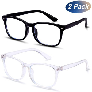 LOEO Blue Light Blocking Glasses, UV Filter Eyewear, Square Eyeglasses Frame, Anti Blue Ray Computer Game Glasses