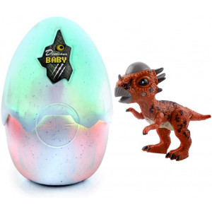 Hatching Eggs Dinosaur Toys, Dinosaur Eggs That Hatch with Realistic Dinosaur Action Figure, Music and Hatching Sound with LED Light, Novelty Educational Toy Party Favors Gift for 3 Year and Up Kids