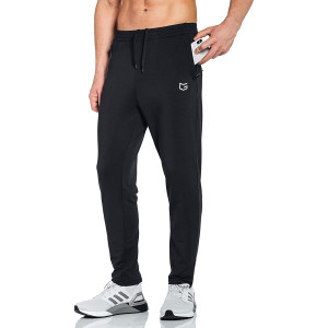 G Gradual Men's Sweatpants with Zipper Pockets Tapered Track Athletic Pants for Men Running, Exercise, Workout