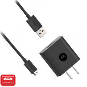 Motorola 10W Rapid Charger with 3.3 Foot USB-A to Micro USB Cable for Moto E6, E6 Plus, E6s, E5, E5 Play/Cruise, E4, E4 Plus, Motorola Audio Accessories- Black (Not a TurboPower Charger)