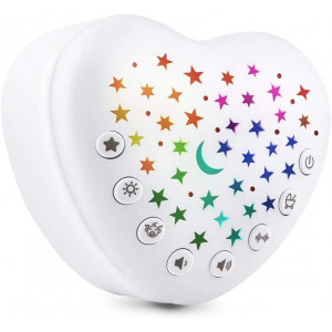 Baby Sleep Soothers,White Noise Sound Machine for Sleeping,Portable Rechargeable Soother with Colorful Night Light,15 Soundsandlullabies and Cry Sensor,Shape for Infant,Baby,Kid