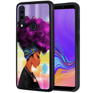 Galaxy A10E Case, Slim Anti-Scratch Shockproof Rubber Protective Cover for Samsung Galaxy A10E (2019)African American Black Girl