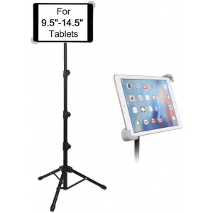 """Tablet Tripod Stand, LetsRun Height Adjustable 20 to 60 Inch Tablet Tripod Mount for iPad Pro 12.9""""/11"""", iPad Air 10.5"""", iPad 9.7'' and More 9.5"""" to 14.5"""" Tablets"""