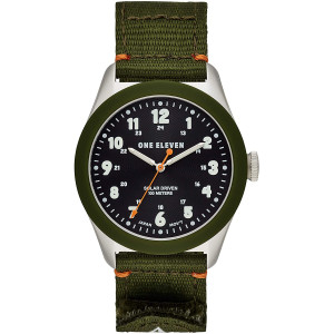 One Eleven (111) Field Watch No. 1 Sustainably Crafted Steel and Recycled Nylon Casual Solar Watch