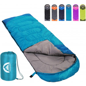 SWTMERRY Sleeping Bag 3 Seasons (Summer, Spring, Fall) Warm and Cool Weather - Lightweight,Waterproof Indoor and Outdoor Use for Kids, Teens and Adults for Hiking and Camping