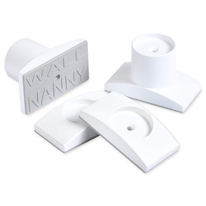 """Wall Nanny Extender - 2.5 Inch Baby Gate Extension Kit (Made in USA) Extends Pressure Mounted Gates + Protects Walls + Stabilizes Gate - Child Pet and Dog Gates - Works on Stairs - Extends 2.5"""" Total"""