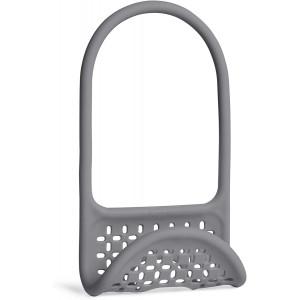 Umbra Sling Flexible Sponge Holder Kitchen Sink Accessory, Single-Sided, Charcoal