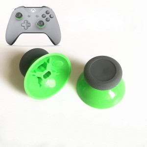 2 PCS Replacement Analog Thumbstick Cover Case Joystick Thumb Sticks Caps for Xbox ONE, Xbox ONE S Slim, Xbox ONE X PS4 Controller (Green)