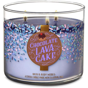 Bath and Body Works Chocolate Lava Cake Candle - Large 14.5 Ounce 3-Wick - New for Christmas Holiday Land of Sweets Collection 2019