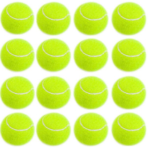unhg 16 Pack Dog Tennis Balls for Pet Playing Fetching, Pet Safe Dog Toys for Exercise and Training - 2.5 inches Dog's Favorite Color, Easy to Locate