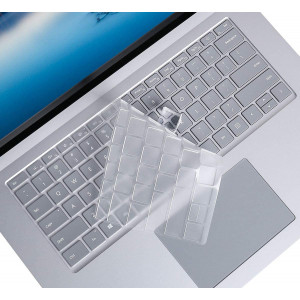 Ultra Thin Clear Surface Laptop 3 Keyboard Cover for Microsoft Surface Laptop 3 13.5 Inch and 15 Inch 2019 Release Laptop TPU Keyboard Cover Protective Skin, Surface Laptop 3 Accessories, US Layout