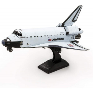 Fascinations Metal Earth Space Shuttle Discovery Color Version 3D Metal Model Kit