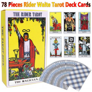 Tarot Cards Classic Waite Tarot Deck Travel Card Power Deck with Guide Booklet