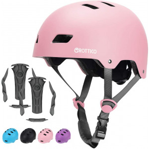 GROTTICO Toddler-Kids-Youth Helmet Skateboard-Bike-Scooter-Skate Adjustable - for 2-14 Years Old CPSC and ASTM Certified Safety with Replacement Liner