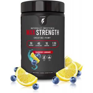 Inno Supps Max Strength - Advanced Creatine + Pump Booster, Creapure 5g, HMB 500mg, L-Citruline 4g, No Artificial Sweeteners, Keto Friendly, Vegan, Non-GMO, Gluten Free, Soy Free (Blueberry Lemonade)