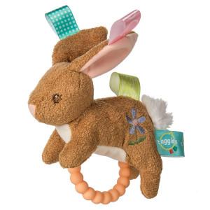 "Taggies Teether Baby Rattle, 6"", Harmony Bunny"