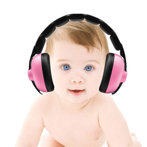 Baby Ear Protection - Noise Canceling Muffs for Babies Infant Tots Toddler Child - Kids Hearing Protection Earmuffs - Sound Proof Noise Canceling Headphones - Ages Newborn to 3 Years - Light Pink
